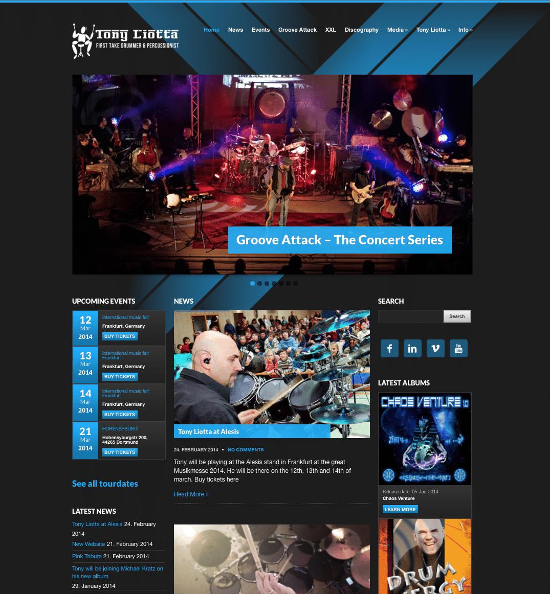 Tendentz har produceret nyt website for Tony Liotta