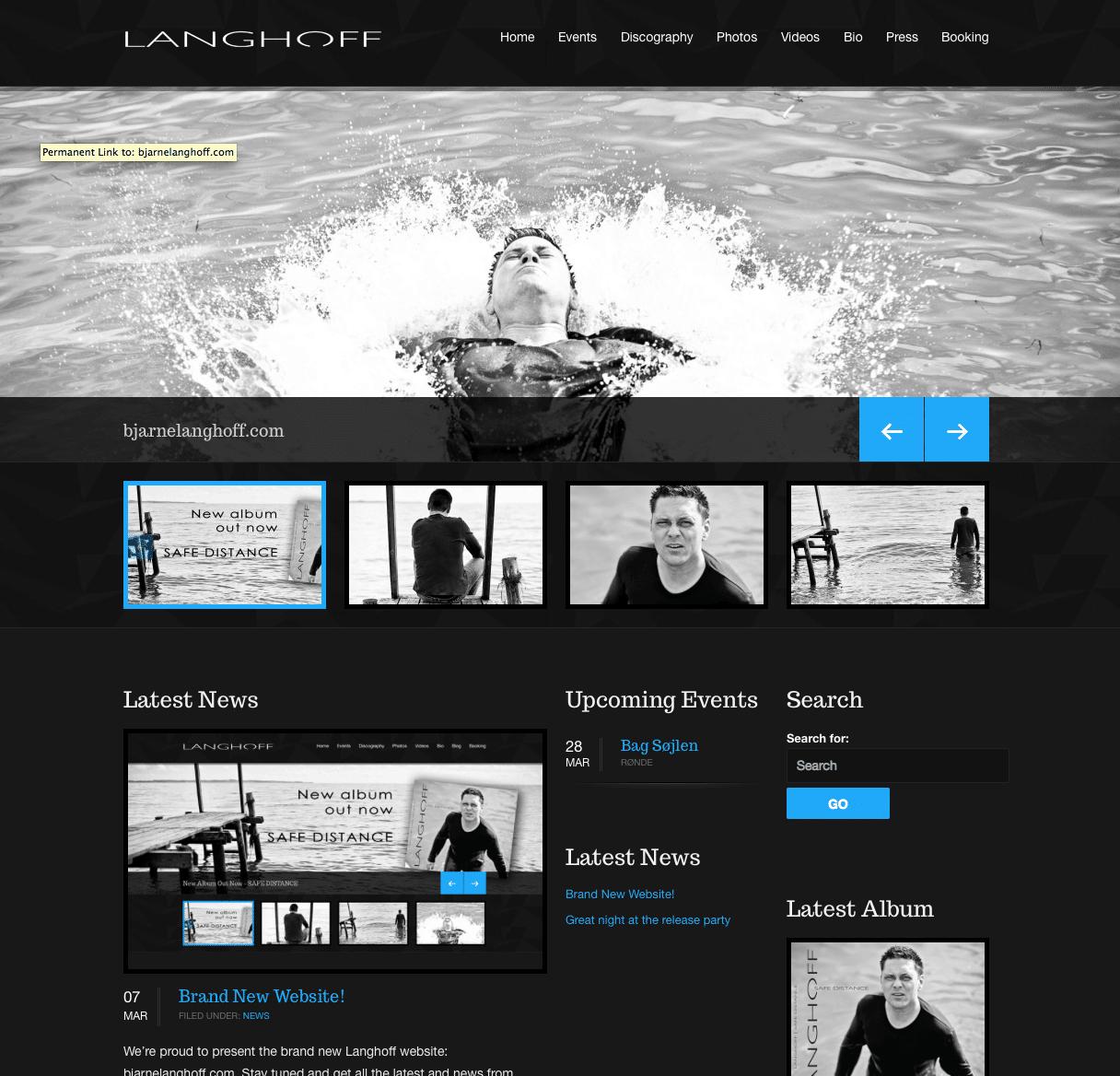 Tendentz har produceret nyt website til Bjarne Langhoff