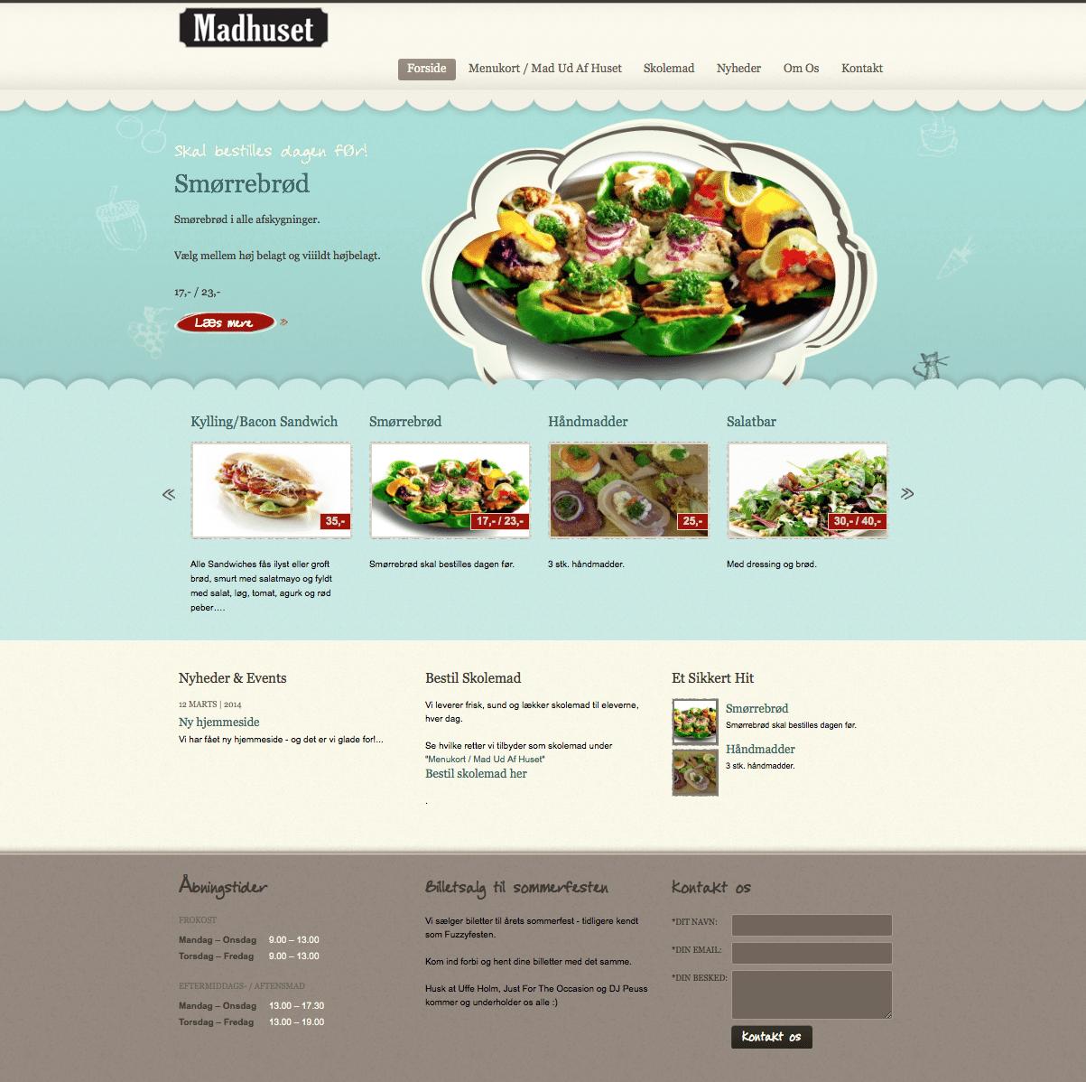 Tendentz har produceret nyt website til Madhuset i Vildbjerg.
