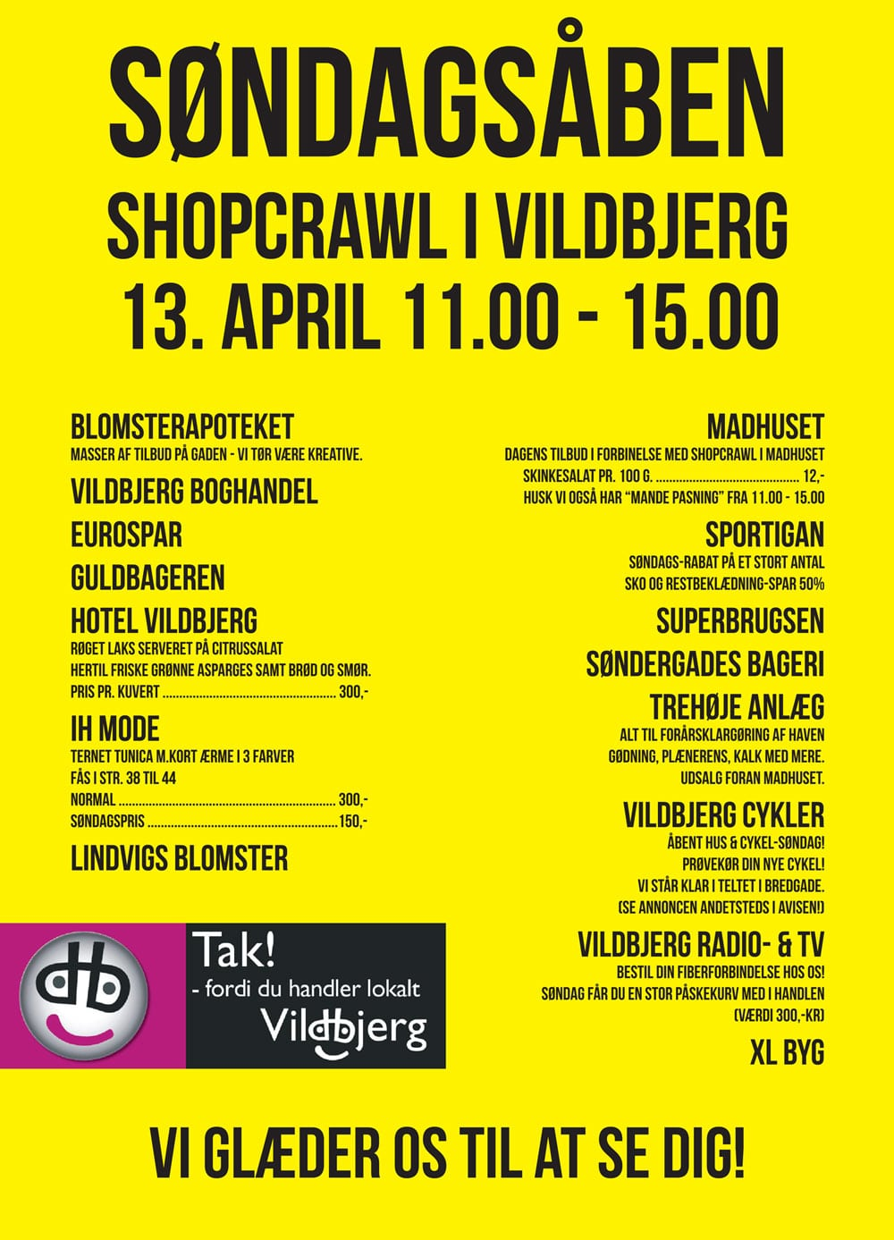 Vildbjerg Handelsforening ShopCrawl Annonce