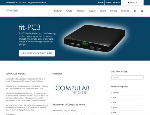 CompuLab Nordic – ny webshop produceret af Tendentz