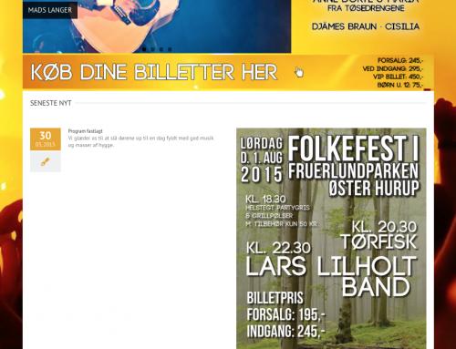 Nyt website til Øster Hurup Sommerkoncert